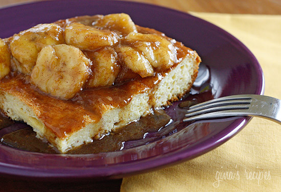 Bananas Fosters Topped Overnight French Toast | Skinnytaste