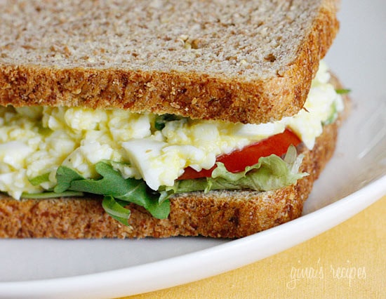 What to do with all your leftover Easter eggs? Make this easy guiltless egg salad made with mostly egg whites and scallions. Serve this on your favorite whole grain bread or enjoy on lettuce cups.