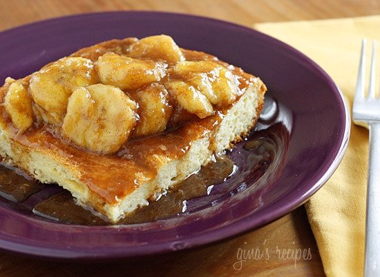 Bananas Fosters Topped Overnight French Toast | Foodan