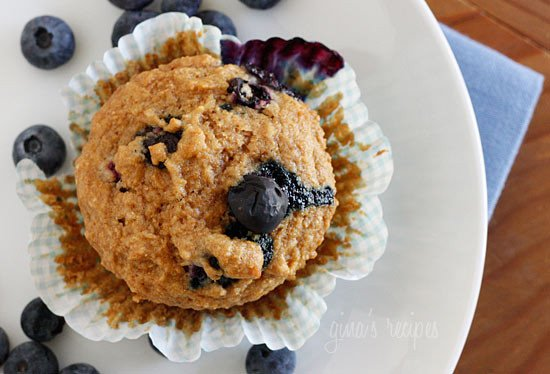 Low Fat Whole Wheat Blueberry Muffins 50