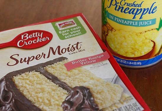Crushed Pineapple Cake Mix Butter