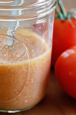 Skinny Red Wine Tomato Vinaigrette