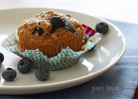 Low Fat Whole Wheat Blueberry Muffins 14