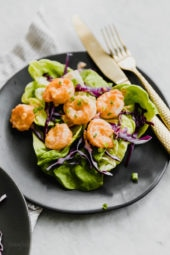 Bangin Good Shrimp- A healthier, slimmed down copycat recipe of Bonefish Grill's very popular Bang Bang shrimp recipe.