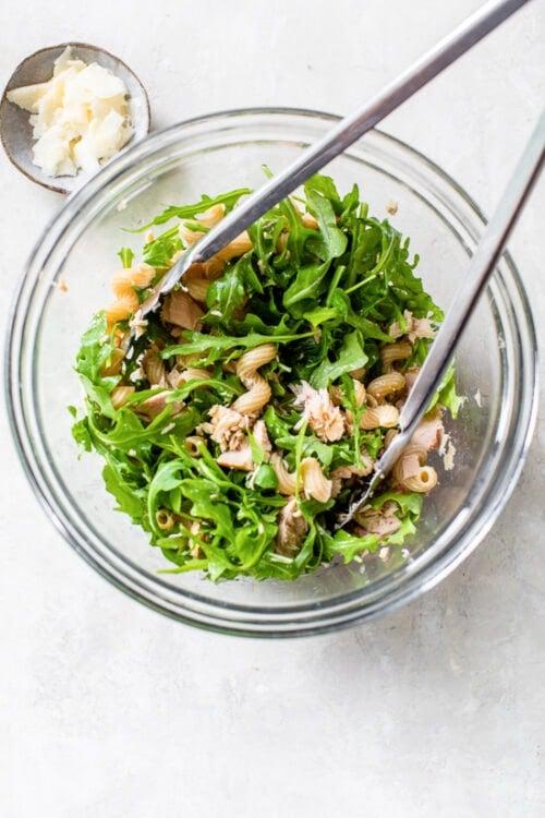 Mayo-less Tuna Pasta Salad