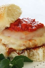 Chicken Parmesan Burgers are so easy, the perfect 10 minute recipe for weekday lunch or dinners!