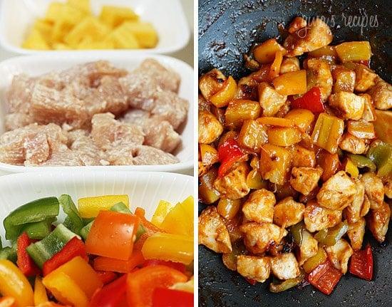 Food 1 2016 7 26 Shrimp Pineapple And Pepper Stir Fry >> Thai Chicken And Pineapple Stir Fry Skinnytaste