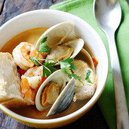 Halibut-and-Shellfish-Soup