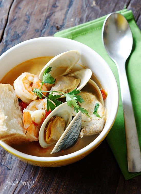 Halibut and Shellfish Soup | Skinnytaste