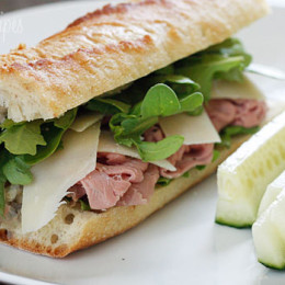 RoastBeef-Arugula-and-Shaved-Parmesan-on-a-Baguette