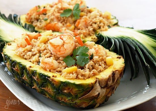 Steak And Shrimp Pineapple Bowls