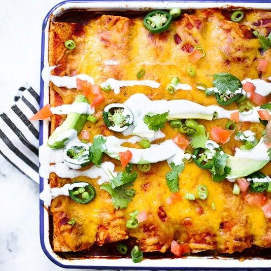 Skinny Chicken Enchiladas Skinnytaste