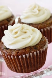 This delicious, healthy Pineapple Zucchini Cupcake with Cream Cheese Frosting is absolutely incredible! Made with whole wheat flour, fruit, vegetables and dairy... what's not to love?!