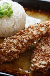 Sesame-Encrusted-Baked-Chicken-Tenders