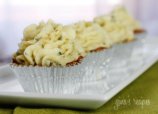 Skinny Meatloaf Cupcakes with Mashed Potato Frosting - fun for kids!