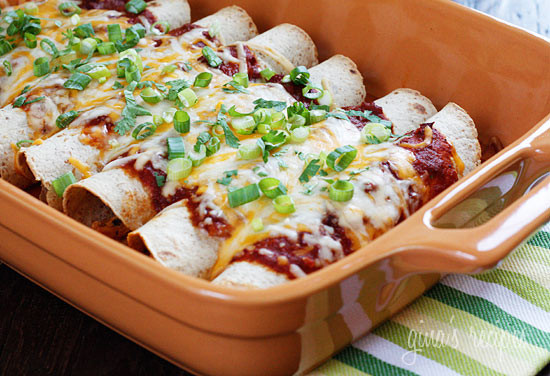 Skinny Chicken Enchiladas – these are the BEST chicken enchiladas!