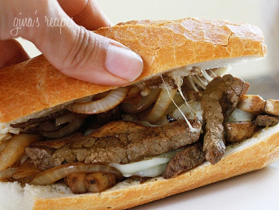Steak and Cheese Sandwiches with Onions and Mushrooms | Skinnytaste
