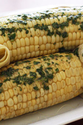 roasted-corn-with-cilantro-butter