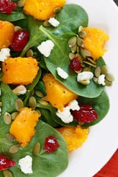 Baby-Spinach-Salad-with-Honey-Roasted-Butternut-Squash2C-Pumpkin-Seeds2C-Gorgonzola-and-Dried-Cherries-