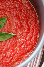 This quick marinara is my favorite go-to recipe when I need to whip up a quick sauce.