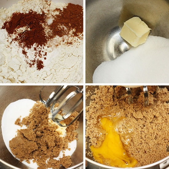 Add the egg, followed by the pumpkin and vanilla extract.