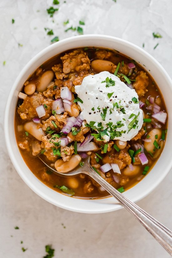 Turkey Pumpkin White Bean Chili (Slow Cooker or Instant Pot) - Skinnytaste