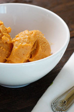 Pumpkin Ice Cream – All the flavors you love about pumpkin pie, only frozen! This sherbet is creamy and perfectly spiced, made with milk, pumpkin puree, and spices.