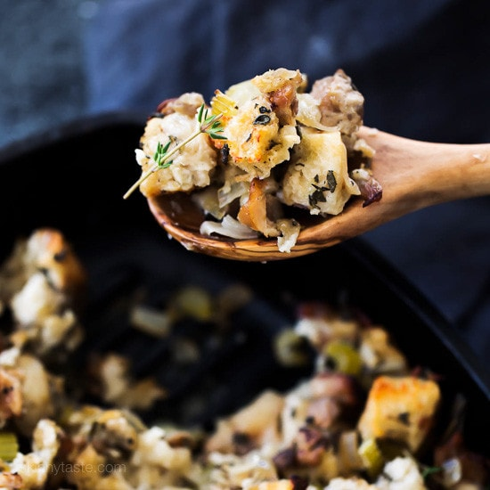 Chicken Sausage and Herb Stuffing | Skinnytaste