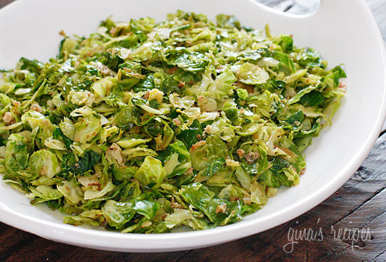 Sauteed brussels sprouts are delicious when shredded and sautéed with ...