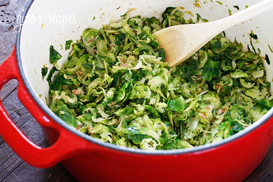 Sautéed Brussels Sprouts with Pancetta | Skinnytaste