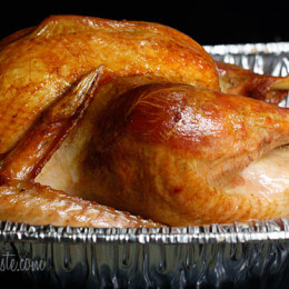 To roast a juicy, succulent turkey, without using any butter or oil, soak your turkey in a brine bath overnight, you will never want to cook a turkey another way.