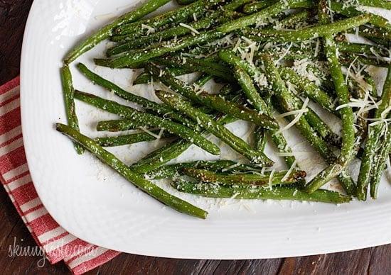 Roasted Parmesan Green Beans | Skinnytaste