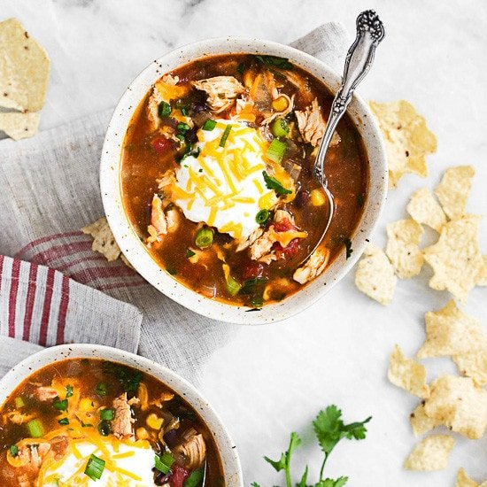 Chicken Enchilada Soup (Slow Cooker and Instant Pot)