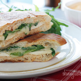 Chicken-Panini-with-Arugula2C-Provolone-and-Chipotle-Mayonnaise