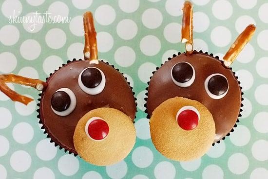 Rudolph the Red Velvet Cupcake | Skinnytaste