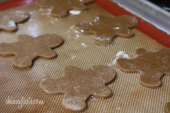 These holiday gingerbread cookies have less than half of the fat than most gingerbread cookies but the same great flavor and are super easy to make!
