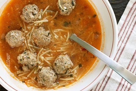 Meatball and Spaghetti Soup