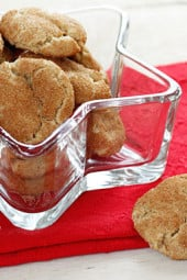 Skinny whole wheat snickerdoodle cookies coated with cinnamon, spice and everything nice! If you have plans to do some baking this weekend, these cookies are a must!