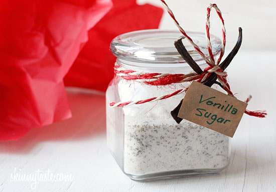 Beautiful specks of vanilla beans are combined with sugar to make a simple yet impressive handmade gift.