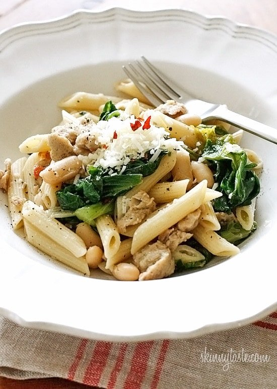 Pasta With Italian Chicken Sausage, Peppers And Escarole ...