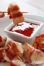 Bacon Wrapped Chicken Bites – This is the easiest hot kid friendly appetizer that you'll ever make. Uses only TWO ingredients and it's soooo good, I guarantee these will disappear in minutes!