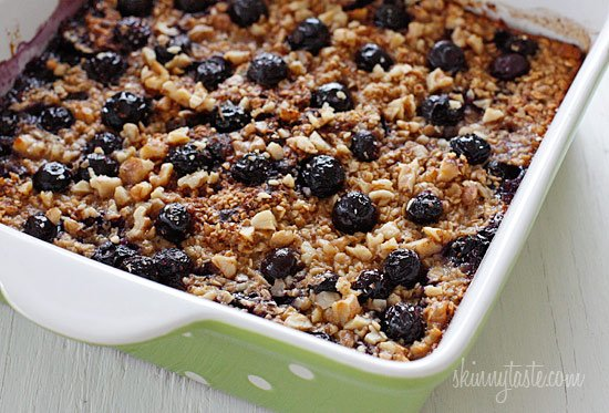 This is the BEST Baked Oatmeal recipe with Blueberries and Bananas. It's perfect to serve guests for brunch, or make it ahead for the week for easy meal prep, as leftovers taste just as good reheated. This can easily be made gluten-free.