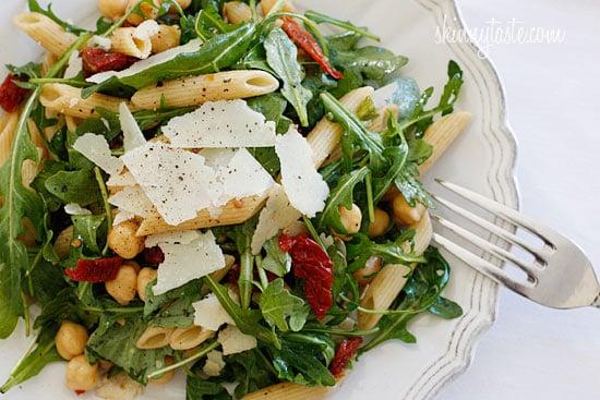 Penne Arugula Salad with Sun Dried Tomatoes