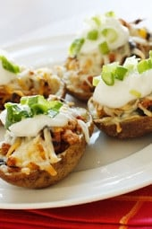 Loaded-Turkey-Santa-Fe-Baked-Potato-Skins