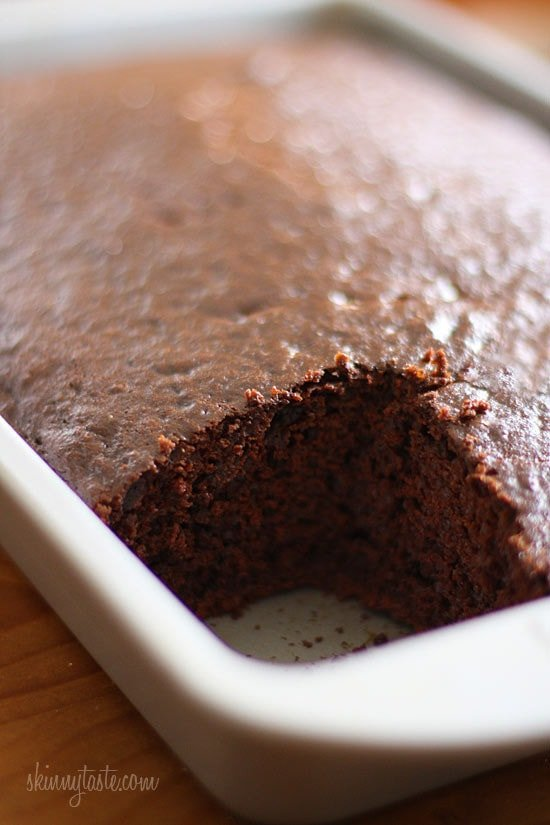 Homemade Skinny Chocolate Cake