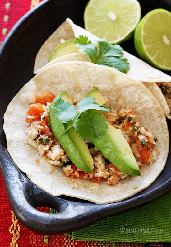 cilantro lime tilapia tacos skinnytaste
