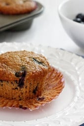Yes, these blueberry muffins are insanely good! Hard to believe they are light. Think baked oatmeal, but in the form of a muffin... so moist and they are just as good the next day.