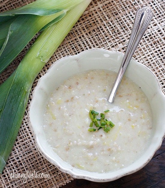 This classic Irish Oatmeal Leek soup also known as Brotchán Roy, traditionally served during Lent. I love the creamy texture of a hearty bowl of oatmeal soup – total comfort food!