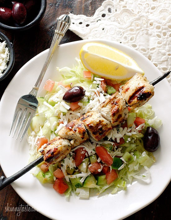 Recipes for mediterranean chicken kebabs