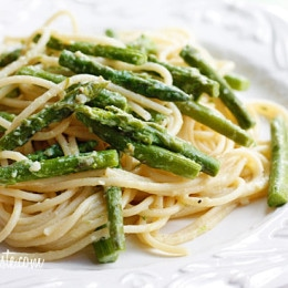 Pasta with Asparagus; a simple dish but a wonderful way to enjoy asparagus which is in season right now.